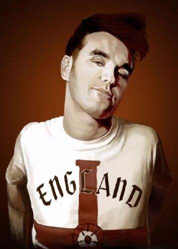 THE SMITHS - MORRISSEY - England sepia canvas print - self adhesive poster - photo print